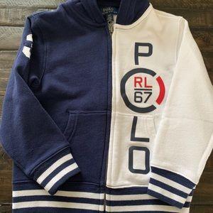 Polo Ralp Lauren toddler boy 4t; zip up sweatshirt
